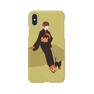黒にゃー(和) Smartphone cases