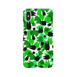 Tooth camo・ライトグリーン Smartphone cases