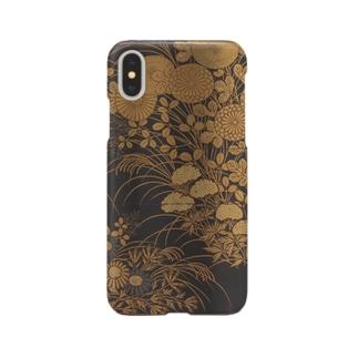 塩見政誠 秋草花蒔絵印籠 Smartphone cases