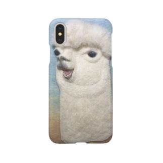 おしゃべりアルパカ Smartphone cases