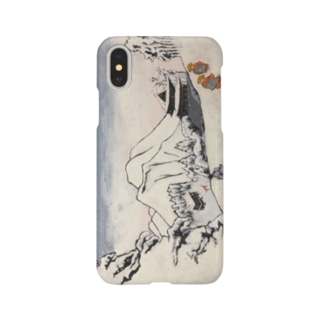仏教と神道と雪の中の2つの道:Art of Buddhism and Shintoism and Two Paths in the snow Smartphone cases