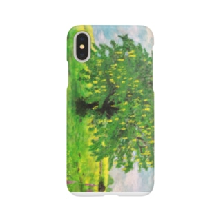輝くような孤立するキングサリの木:Laburnum Tree in Splendid Isolation Smartphone cases