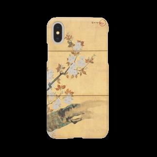 HOKO-ANの酒井抱一筆 桜図屏風(左隻) iPhoneケース Smartphone cases