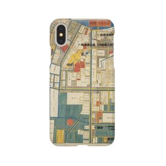 本所深川絵図 Smartphone cases