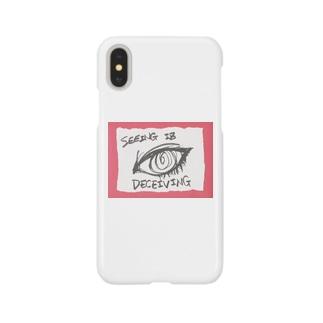 偽諺~参~「百聞は一見に如く」(赤縁) Smartphone cases