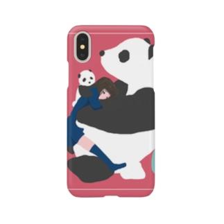 もふもふパンダ Smartphone cases