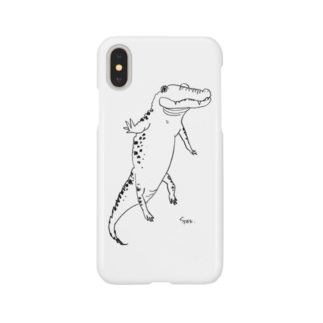 ふじの さきのゆらゆら浮かぶワニ Smartphone cases