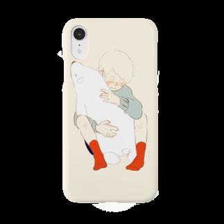 陽のWhite  bear Smartphone cases