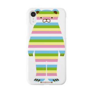 らくがきシリーズ-パステルくまさん Smartphone cases