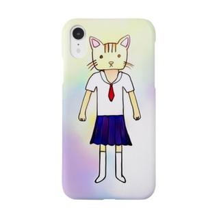 ネコをかぶるJK Smartphone cases