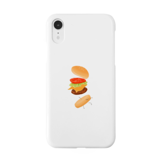 akamm_0517のハンバーガー君 Smartphone cases