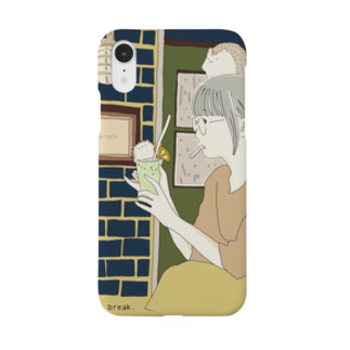 ハリネズミのぽたのカフェへようこそ Smartphone cases