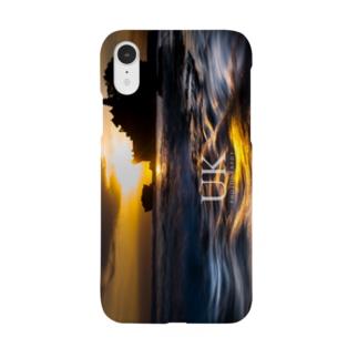 夕暮れの引き波 in バリ -UKロゴあり- Smartphone cases