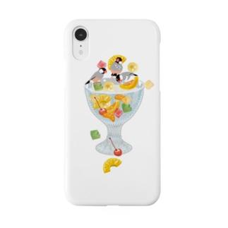 みつ豆桜文鳥 Smartphone cases