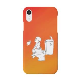トイレ使用中 Smartphone cases