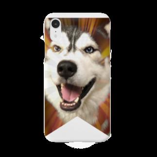 Dream Dog World 【夢犬】のハスキー タペストリー Smartphone cases