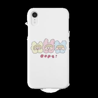 HOSHINOMAAのCotton Animals! Oops! Smartphone cases