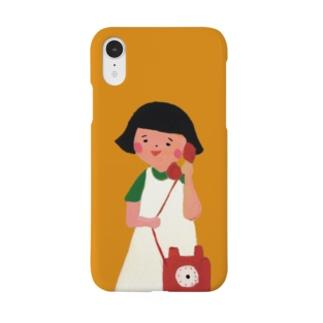 もしもしスマホケース おかっぱ Smartphone cases