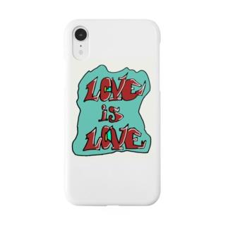 Love is love ヒップホップ グラフティ Smartphone cases