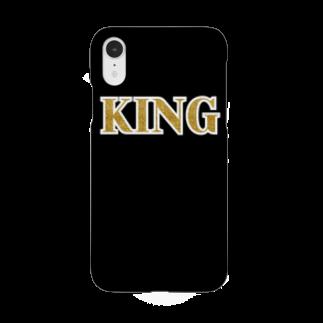 DOLUXCHIC RAYLOのKING Black & Gold Smartphone cases
