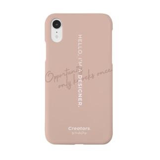 I'M A DESIGNER. (pink beige) - smartphone case Smartphone cases
