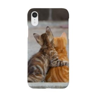 猫写真家 森永健一 Feel So High shopのずっと一緒 Smartphone cases