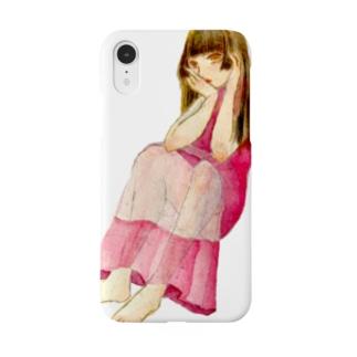 姫カットの女の子 Smartphone cases