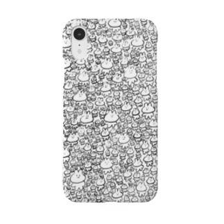 落ち着くうさぎ・白 Smartphone cases