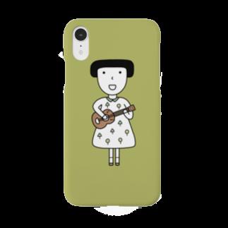 そろり屋のウクレレ女子 Smartphone cases