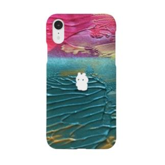 赤富士とうさぎ Smartphone cases