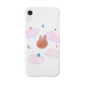 うとうとうさぎ 眠い子ウサギ Smartphone cases