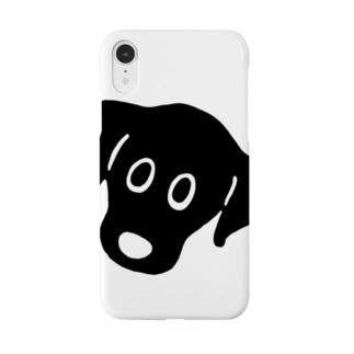 黒ラブたん フェイス Smartphone cases