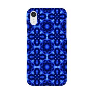 オシャレな基盤のスマホケース(青) 手帳型スマートフォンケース Smartphone cases