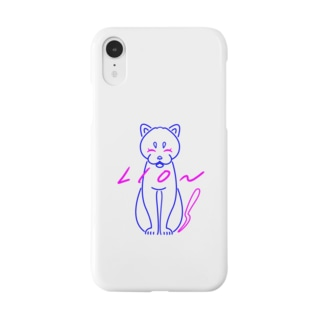 ユリカのブルーライオン(白地version) Smartphone cases
