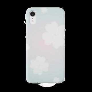 まゆぽんのアトリエのホワイトクローバー Smartphone cases