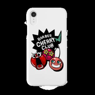 BARBER CHERRY CLUBのラクガキヤ×チェリークラブ Smartphone cases