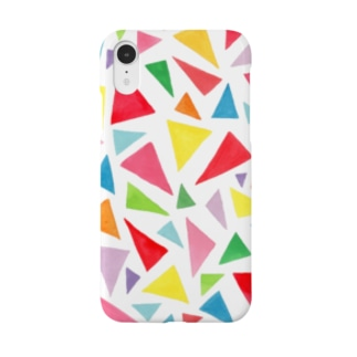 palette_サンカク(colorful) Smartphone cases