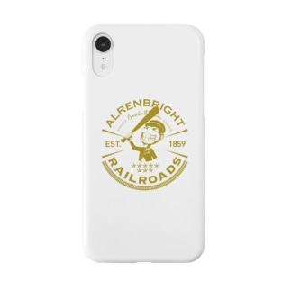 PooompadooourのRailroads お猿さんエンブレム 黄 Smartphone cases