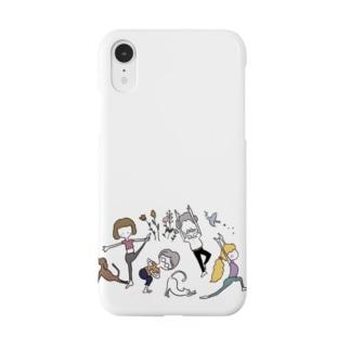 moeyogiroomのyogiな仲間たち Smartphone cases