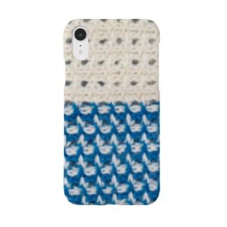 富士山カラーの編み模様 Smartphone cases