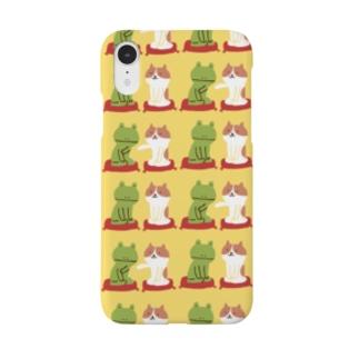 ねことカエルくん Smartphone cases