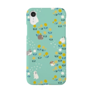たんぽぽとうさぎさん Smartphone cases