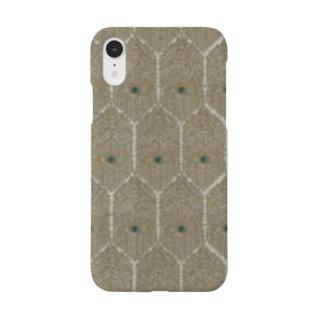 孔雀と金糸刺繍のスマホケース 孔雀の羽スマートフォンケース ラメ クジャク 翼 ヴィンテージ   Smartphone cases