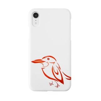 ◆だしのや◆のアカショウビントライバル Smartphone cases