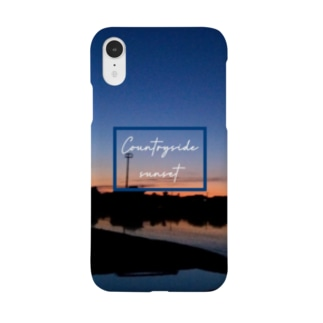 Countryside sunset 〜田舎の夕焼け〜 Smartphone cases