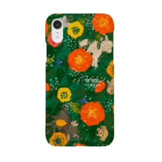 ぐるぐるリース(レッド) Smartphone cases
