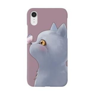 子猫のまんまるとちょうちょ Smartphone cases
