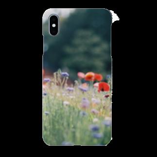 sakana_のポピーの花畑 Smartphone cases