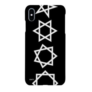 BIG Geometric star #Black Smartphone cases