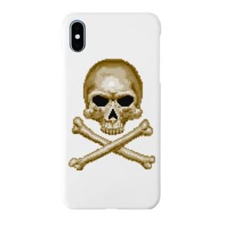 ドットスカル ゴールド Smartphone cases